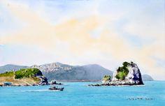 오륙도 story 53.0 x 40.9cm watercolor dn ppaper watercolor by Jung in sung