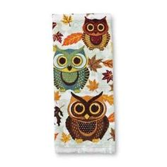 Lovely Owl Kitchen Decor | Owl And Fall Autumn Leaves Kitchen