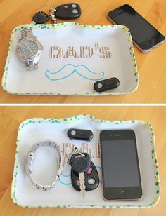 Father's Day Mustache Tray - Father's Day Craft