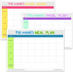 Awesome Meal Planning Printable!  Exactly what I wanted. Organized Meg: Meal Planning + Printable