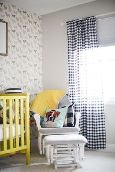 Boys Nursery. Dog Silhouette Wallpaper from Wall Paper Direct.