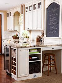 Kitchen Chalkboard Projects. Including hidden chalkboards behind cabinet doors