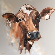 Art Van, Art And Illustration, Cow Painting, Painting & Drawing, Watercolor Animals, Watercolor Art, Cow Canvas, Cow Pictures, Cow Art
