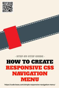 How to Create Responsive CSS Navigation Menus Learning Web, Deep Learning, Learning Resources, Computer Science, Computer Coding, Computer Programming, Css Cheat Sheet, Web Design Programs, Design Web