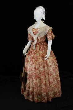 Party Dress: ca. 1840's.