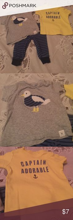 Carter's Baby Boy 3 piece Set This set includes two t-shirts and a pair of pants. This set is in great condition. Carter's Matching Sets