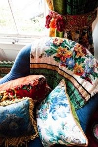 Bohemian soft furnishings