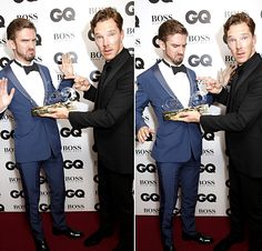Ben and Dan Stevens at the GQ Awards 2014