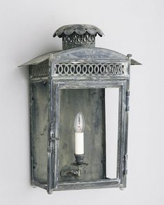 Regency Wall Lantern - Product WL 16 Charles Edwards UK...Wall lantern finish!