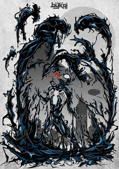 We are Venom !!, via Flickr.  http://beta.threadless.com/spiderman/we-are-venom-5/