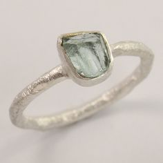 Cute Ring Size US 7.5 Natural APATITE Rough Gemstone 925 Sterling Silver Jewelry #Unbranded