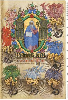 Visconti Book of Hours.  Italy in the late 14th century.  Commissioned by the ruler of MilanThis particular Book of Hours was created by two master illuminators, beginning with Giovannino dei Grassi before his death, and completed by Belbello da Pavia..