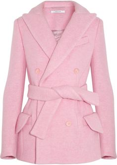 Carven Pink Coat.  a fan of this shade of pink on me.  Love this coat.
