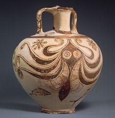 Stirrup jar with octopus [Mycenaean] (53.11.6)   Heilbrunn Timeline of Art History   The Metropolitan Museum of Art