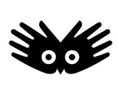 Symbol. I LOVE this one! I think its so clever. I love that its a persons hands and an owl, which represents wisdom, so it really goes well with the company name.This is for Body Wisdom.