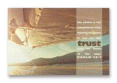 """Items similar to Christian Wall & Desk Art - Vintage Photography Airplane Wing """"Trust"""" with Bible Scripture on Etsy Photography Gifts, Vintage Photography, Psalm 36, Christian Art Gifts, Wall Desk, Bible Scriptures, My Passion, Airplanes, Trust"""