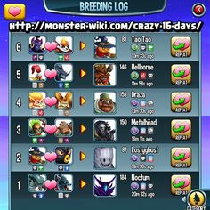 f7d1274260be1943ec4d065d11474edb crazy day gaming the best monster legends breeding guide and chart monster