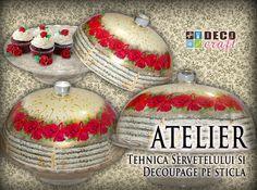Curs Tehnica servetelului si Decoupage pe sticla. http://www.decocraft.ro/ateliere-creativitate/