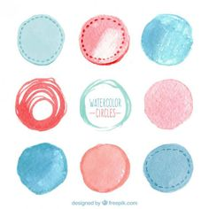 24 Awesome Stock Graphics – Watercolor Vectors for Design Watercolor Circles, Watercolor Design, Watercolor And Ink, Web Design, Graphic Design Tips, No Photoshop, Photoshop Brushes, Photoshop Ideas, Paint Vector