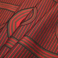 Famous Designer Goemetric Striped Rayon-Wool Panel Fabric by the Yard | Mood Fabrics