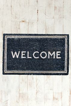 Welcome Door Mat at Urban Outfitters