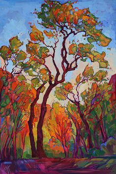 Autumn Flame by Erin Hanson - Autumn Flame Painting - Autumn Flame Fine Art Prints and Posters for Sale