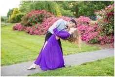Golden Hour Engagement Session   Purple Dress   Fredericksburg, Virginia   Hope Taylor Photography