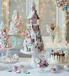 Crystal Candy Christmas Collection by Peggy Porschen Cakes Ltd - issuu christmas candy Christmas Gingerbread House, Christmas Sweets, Christmas Cooking, Noel Christmas, Pink Christmas, Christmas Goodies, Christmas Candy, Xmas, Gingerbread Houses
