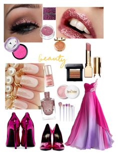 """""""50 shades of Pink"""" by ellynzara on Polyvore featuring beauty, Clarins, Milani, Yves Saint Laurent, Bobbi Brown Cosmetics and Terre Mère"""