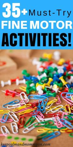 Must-Try Fine Motor Activities For Kids! Sensory Activities, Activities For Toddlers, Activities For Preschoolers, Activities For Kindergarteners Toddler Fine Motor Activities, Preschool Fine Motor Skills, Motor Skills Activities, Gross Motor Skills, Sensory Activities, Infant Activities, Physical Activities, Sensory Rooms, Fine Motor Activity