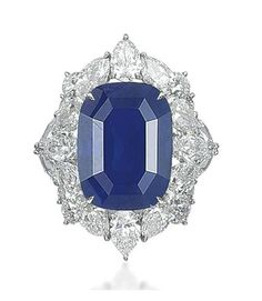30.07 carat sapphire and diamond ring. Christie's.
