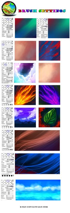 Paint tool SAI - BRUSH SETTINGS by ryky.deviantart.com on @DeviantArt