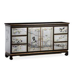 TALMD现代新中式手绘家具明清古典玄关柜彩绘实木门厅装饰柜定制909-23 - 家居单品定制 - 图迈家居