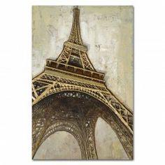 Cuadro Eiffel, lienzo pintura al óleo. Cuadros y Pinturas en Nuryba.com tu tienda decoracion de interiores online