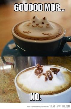 Grumpy Cat Drink Foam Art