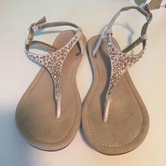Gold Embellished Sandals Gold embellished flat Aldo sandals, barely worn and super comfy! ALDO Shoes Sandals