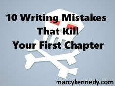 By Marcy Kennedy (@MarcyKennedy) I'm teaching at a writer's conference this week, so instead of one of my in-depth posts, I thought I'd create a quick checklist for you. Here are 10 writing mistake…