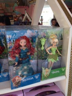 Merida and Tinkerbell dolls