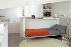 Mueble cama abatible individual con mesa abatible