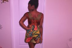 My obsession with mixing prints drove me to this...