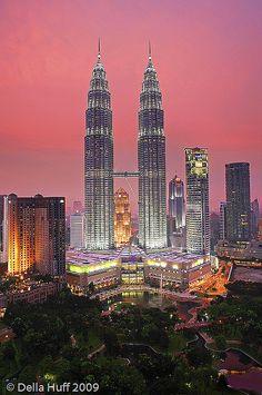 Pink Hour over the Petronas Towers, Kuala Lumpur, Malaysia