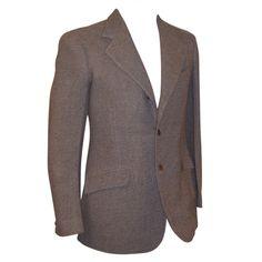 1930's Men's Camel & Gray Tweed Single-Breasted Blazer