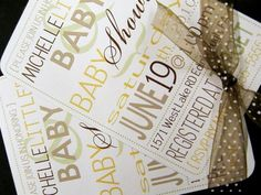Baby Shower Invitations DIY Printable PDF by littletoad on Etsy, $20.00