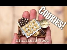 Miniature Cookies Tutorial // Fimo Foods, Polymer Clay Sculptures - YouTube