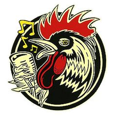 Rockabilly Rooster Logo. Part of the inspiration for this character.