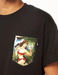 The Quiet Life T-shirt with Pin Up Pocket