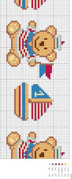 [ositos_color-756078.gif] Cross Stitch For Kids, Cross Stitch Baby, Cross Stitch Flowers, Cross Stitch Designs, Cross Stitch Patterns, Cross Stitching, Cross Stitch Embroidery, Baby Teddy Bear, Cross Stitch Bookmarks