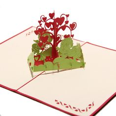 Merry Christmas Wishing Tree 3D laser cut pop up paper handmade Christmas gifts souvenirs postcards Christmas Tree Card