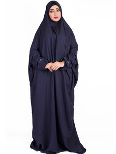 Navy Blue One Piece Prayer Dress | Muslim Prayer Clothes & Prayer Outfit | Islamic Boutique