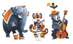 Personal work, animal musicians!
